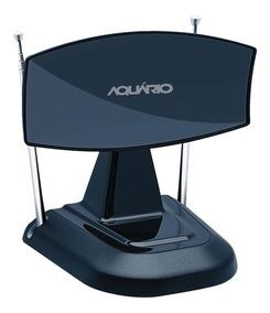 Antena Interna Mini Parabólica Hd Vhf Uhf Fm Tv-350 Aquário