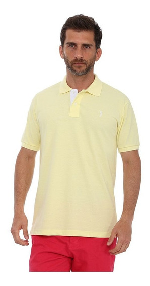 Camisa Polo Golf Club Slim Amarelo Bb