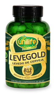 Levedo De Cerveja + Vitamina B12 Em Comprimidos 450