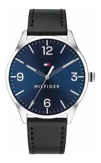 Reloj Tommy Hilfiger Hombre 1791520 Acero Y Cuero Negro