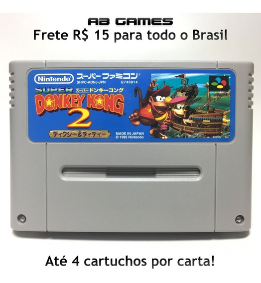 Super Donkey Kong 2 Japonês Super Famicom