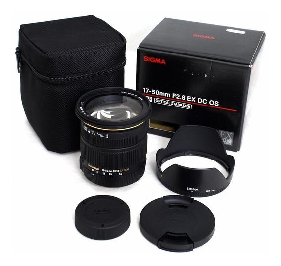 Lente Sigma 17-50mm F/2.8 Dc Ex Os Hsm Autof+estab Canon Nfe