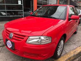 Volkswagen Gol 1.4 Aire Y Direccion 2011 3 Puertas Rojo