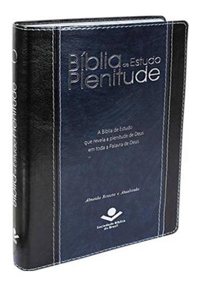 Bíblia De Estudo Plenitude - Linguagem R. A. Preta/azul