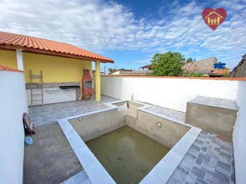 Imagem 1 de 10 de Casa Nova Lado Praia, Piscina Com Hidro No Bal. Bopiranga, Itanhaém. - Ca1022