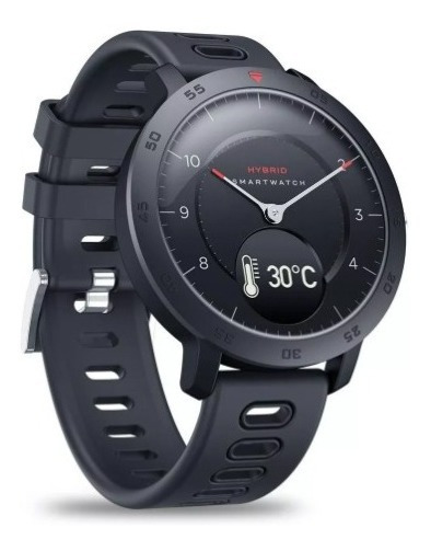 Relógio Inteligente Zeblaze Hybrid Preto A Pronta Entrega