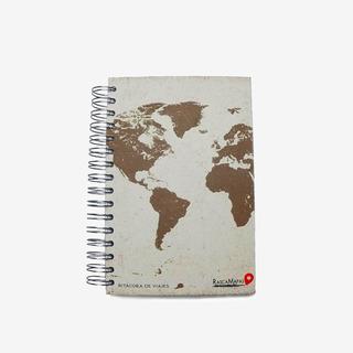 Libreta Bitácora De Viajes Con Mapas Rascables