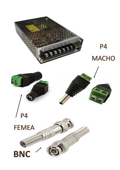 Fonte Chaveada 12v 20a C./ 48 Conectores Bnc, P4 F20pb48