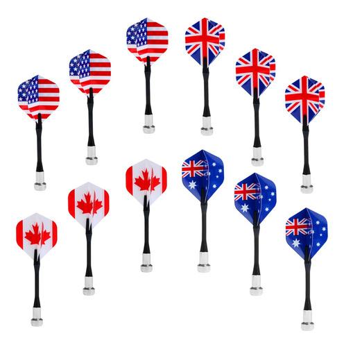 Imagem 1 de 5 de 12 Pcs Bandeira Dardos Magnético Brinquedos Jogo Alvo De Pl