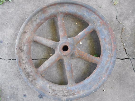 Rueda Antigua Metal ,hierro, 48cm De Diámetro