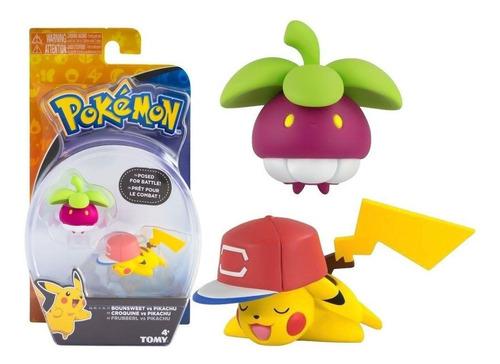 Boneco Pokemon Figuras De Ação Bounsweet & Pikachu - Tomy
