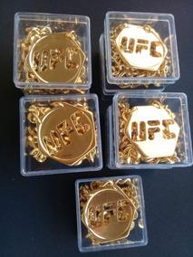 Combate Ostentação Ufc Banhado Ouro 18k Corrente