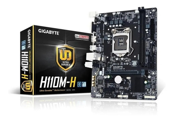 Mother Gigabyte H110m-h Lga 1151 Intel Ddr4 Palermo