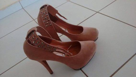 Sapato Feminino Vizzano Cor Bege Como Novo