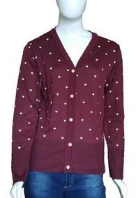 Blusa De Frio Feminina Cardigan Suéter Lã Trico # B11