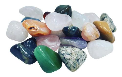 Pedras Roladas Mistas Naturais 4,5 A 6 Cm Extra Grande 1 Kg