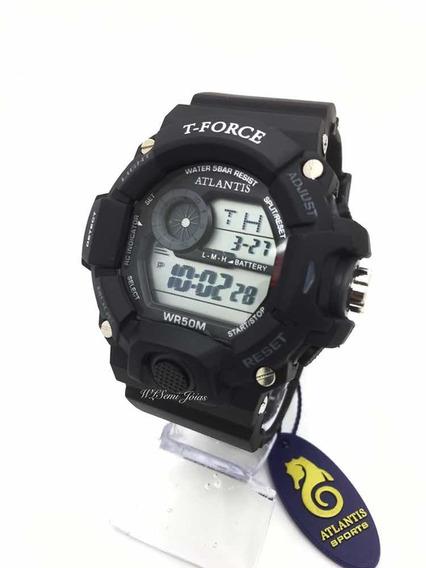 Relógio Masculino Atlantis Sports T Force G5517 Preto