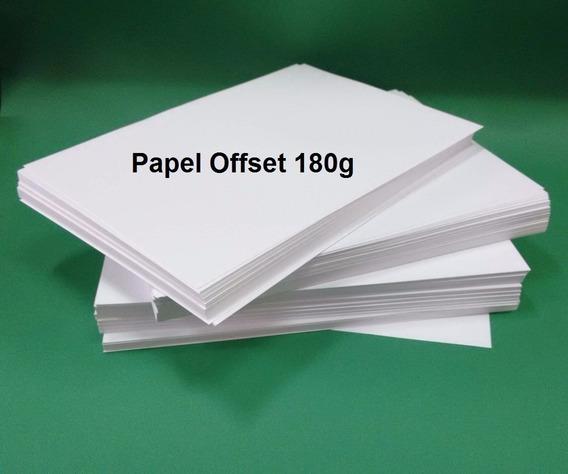 Papel Offset 180g Sulfite P/ Covite A4 Offset 180gr 500 Fls