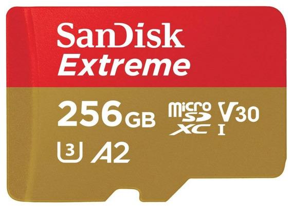 Cartão Sandisk Extreme 256gb A2 160mb/s Micro Sd Sdxc 4k