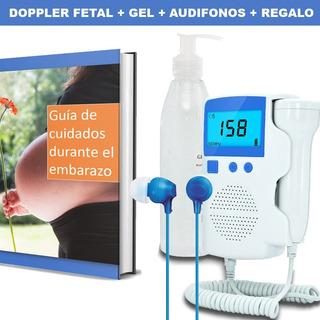Monitor De Frecuencia Cardiaca Fetal Doppler + Gel Conductor