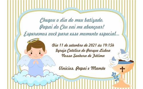 Imagem 1 de 9 de Convite De Batizado Digital