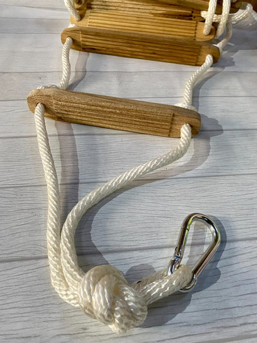Escalera Nautica Clasica De Enrollar Soga - Calidad Premium