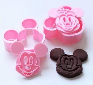 Cortador Galletas Fondant 3d Mickey Y Minnie Mouse