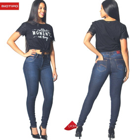 044e7e17f Calça Jeans Biotipo Feminina - Calças Jeans Feminino Azul marinho no ...