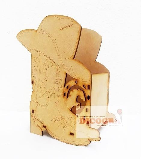 Dulcero Bota Y Caballo Mdf 3mm Sin Armar 40pz