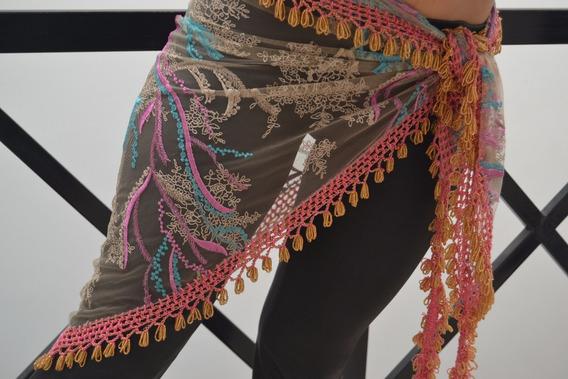 Caderines Danzas Árabes Importados Rosado Tela Microtull