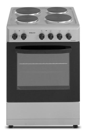 Cocina Philco PHCH050P 4 hornallas eléctrica plata 220V puerta con visor