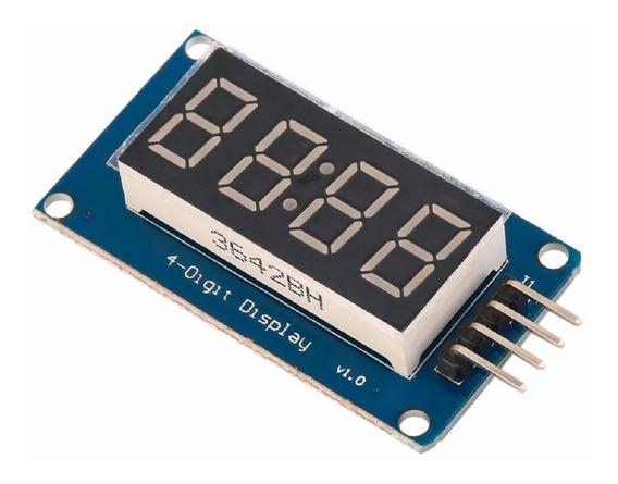 Modulo Display 4 Digitos Tm1637 Relógio Arduino