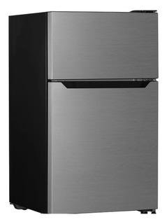 Refrigerador minibar Hisense RT33D6AAE silver con freezer 93.4L 110V
