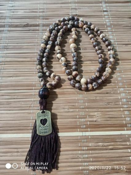 Japamala 108 Contas Açaí Hooponopono Com Mandala