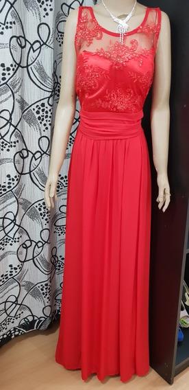 Vestido Rojo Largo...