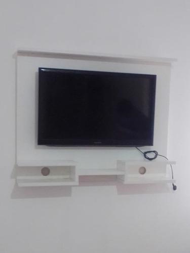 Panel Rack Flotante 3 Estantes 100x80 Smart Tv Led Consolas