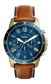 Relógio Masculino Fossil Fs5268/2an 44mm Couro Marom