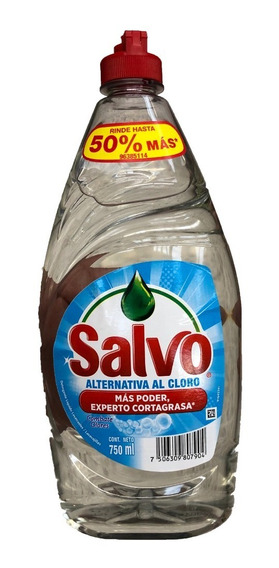 Jabon Liquido Para Trastes Salvo Alternativa Al Cloro 750ml