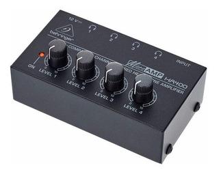 Behringer Microamp Ha400 Amplificador Auriculares 4 Canal 6p