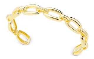 Bracelete Sabrina Joias Folheada Ouro18k Com Micro Zircônias