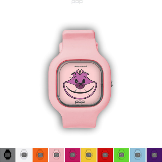 Relógio Pulseira Silicone Troca Cores Resistente Gatil