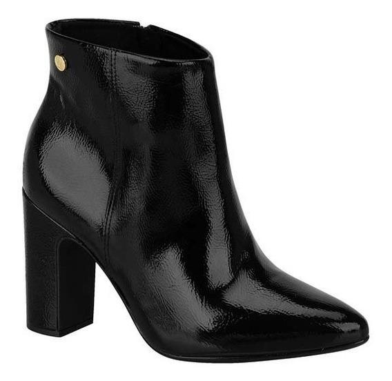 Bota Feminina Vizzano Ankle Boot Cano Curto Textura 3068100