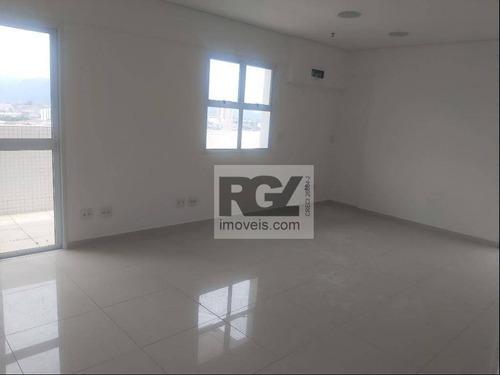 Sala Para Alugar, 55 M² Por R$ 2.500,00/mês - Boqueirão - Santos/sp - Sa0260