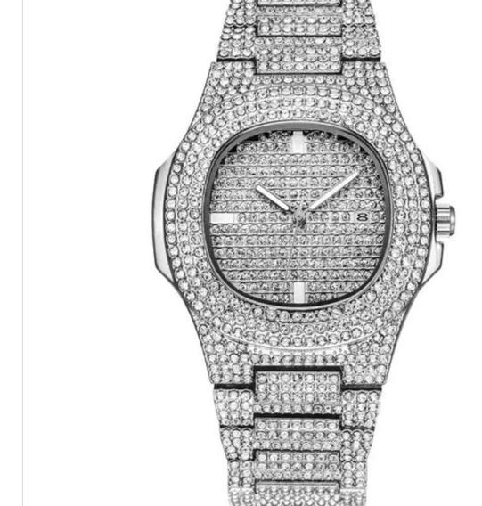 Reloj Diamantado Acero Inoxidable