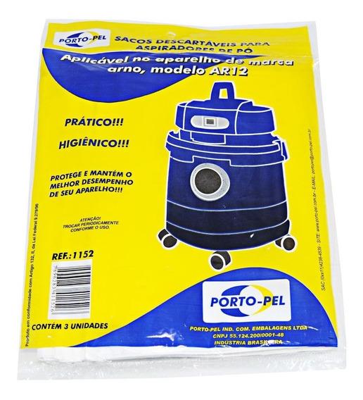 Saco Descartável Para Aspirador De Pó Arno H2po E Ar12 C/3un