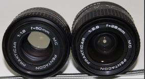 Lente 50mm 1:1.8 E 28mm 1:2.8 E Camera Praktica Bc1