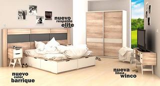 Cama Multifuncion + Respaldo Elite Con Luz + Mesa De Luz