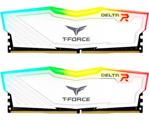 Imagem 1 de 4 de Memória Ram T-force Delta Rgb 16gb 3000mhz Ddr4 Gamer Branca