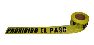 Rollo 305 Mt X 7.5 Cm Cinta Barricada Prohibido El Paso