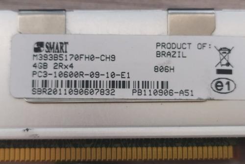 Imagem 1 de 3 de Memória Smart 4gb 2rx4 Pc3-10600r-09-10-e1 M393b5170fh0-ch9